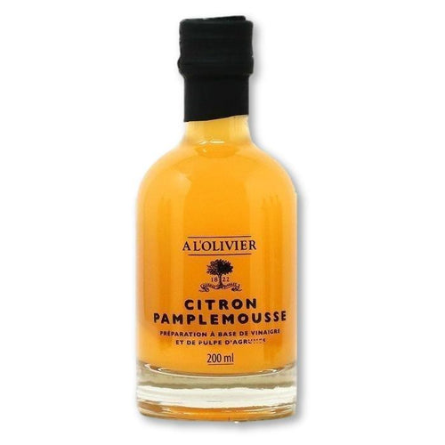 A L'Olivier - Lemon & Grapefruit Infused Fruit Vinegar, 200ml - Vinegar - La Courtisane Gourmet Food