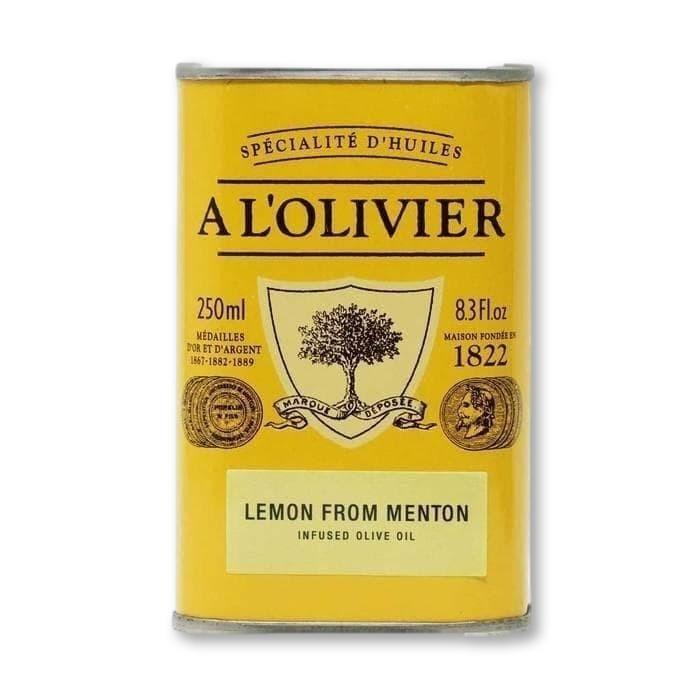 A L'Olivier - Lemon Infused Extra Virgin Olive Oil, 250ml Tin - Olive Oil - La Courtisane Gourmet Food