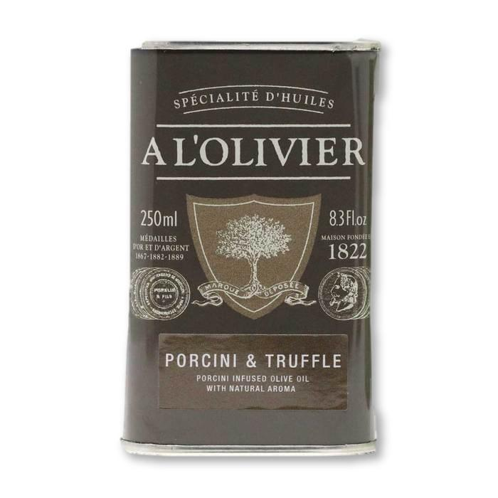 A L'Olivier - Porcini & Truffle Infused Extra Virgin Olive Oil, 250ml - Olive Oil - La Courtisane Gourmet Food