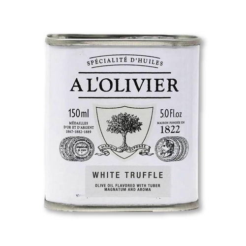 A L'Olivier - White Truffle Infused Extra Virgin Olive Oil, 150ml - Olive Oil - La Courtisane Gourmet Food