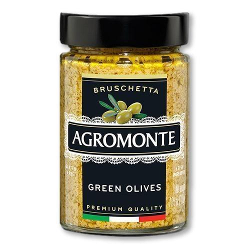 Agromonte - Green Olive Bruschetta 212 grams - Pasta Sauce - La Courtisane Gourmet Food