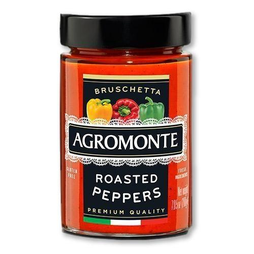 Agromonte - Roasted Peppers Bruschetta 212 grams - Pasta Sauce - La Courtisane Gourmet Food