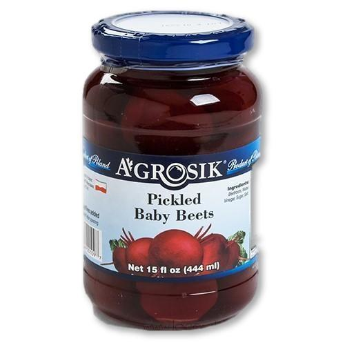 Agrosik - Polish Pickled Baby Beets - Whole 15 oz - Pickles - La Courtisane Gourmet Food