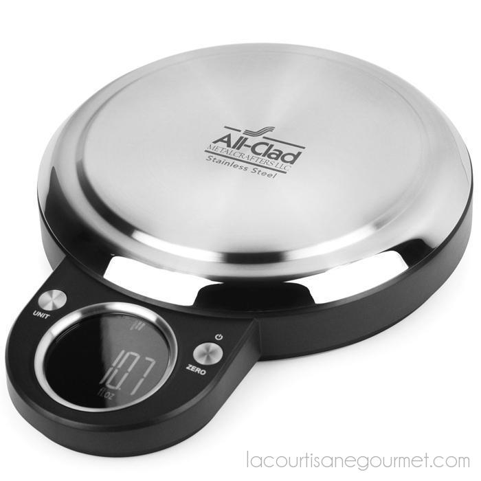 All Clad - Digital Kitchen Scale - 22Lb Capacity - - La Courtisane Gourmet Food