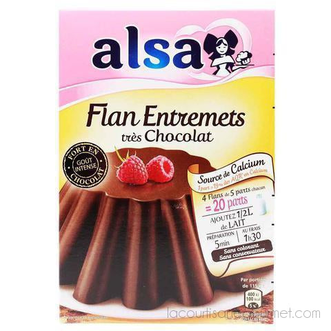 Alsa - Chocolate Flavored Flan Mix - Flan Fondant Au Chocolat 6.8 Oz. - Mix - La Courtisane Gourmet Food