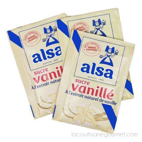 Alsa - French Vanilla Flavored Sugar With Natural Vanilla Extract - 12 Pouches 3.32Oz - Vanilla Sugar - La Courtisane Gourmet Food