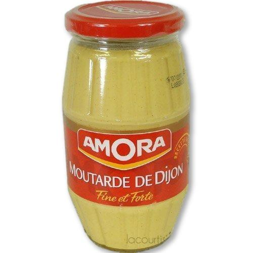 Amora - Dijon Mustard Pack Of 6 Large Jar 15.5 Oz. X 6 - Mustard - La Courtisane Gourmet Food