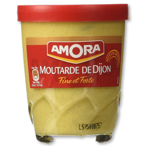 Amora - Fine French Strong Dijon Mustard 5.3 Oz. Pack Of 6 - Mustard - La Courtisane Gourmet Food