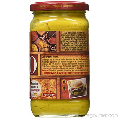 Amora - Savora 11 Spice French Condiment - 13.6Oz (385G) Pack Of 12 - Mustard - La Courtisane Gourmet Food