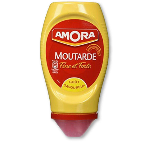 Amora Strong Dijon Mustard From France - 2 Plastic Bottles - 265 Grams Each - - La Courtisane Gourmet Food