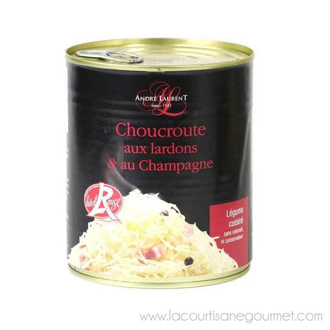 Andre Laurent - Sauerkraut, 800g (28.2 oz) Can - Choucroute - La Courtisane Gourmet Food