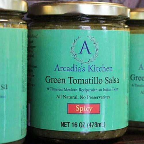 Arcadias Kitchen - Green Tomatillo Salsa Verde 1.558 pounds - Salsa Sauce - La Courtisane Gourmet Food