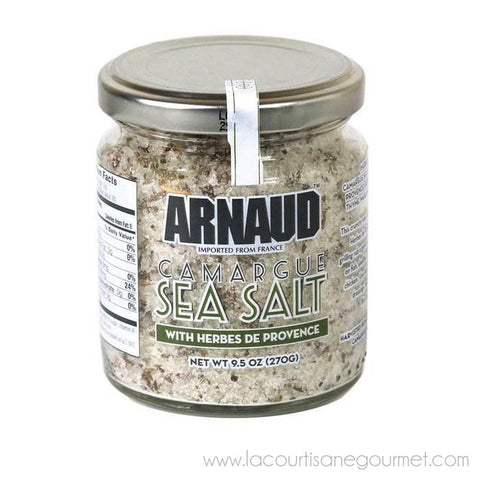 Arnaud - Camargue Sea Salt with Herbs of Provence, 9.5oz - Sea Salt - La Courtisane Gourmet Food