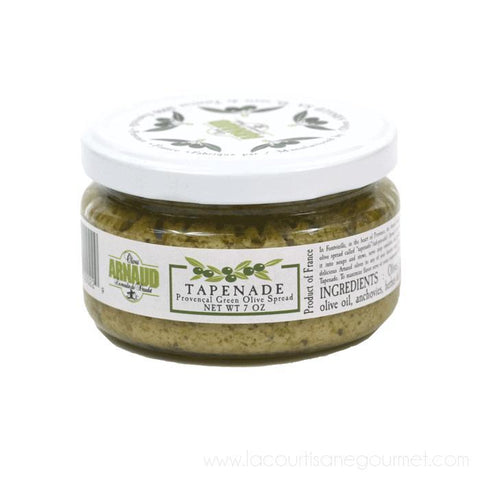 Arnaud - Green Olives Tapenade, 9.2oz Jar - Olive Tapenade - La Courtisane Gourmet Food