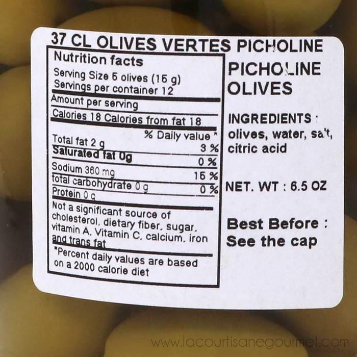 Barral - Green Picholines Olives from Provence, 200g - Green Olive - La Courtisane Gourmet Food