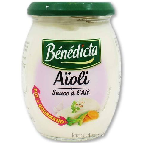 Benedicta - Aioli Garlic Sauce 9.1 Oz. (260G) - mayonnaise - La Courtisane Gourmet Food