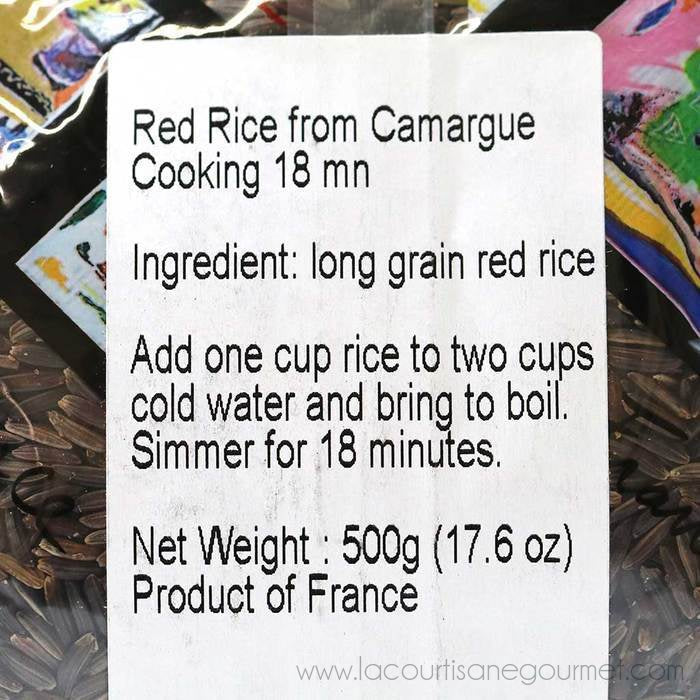 Benoit - French Red Rice from Camargue, 500g Bag - Red Rice - La Courtisane Gourmet Food