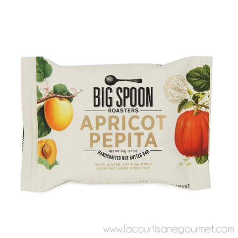 Big Spoon Roasters - Apricot Pepita Nut Butter Bar 60 grams - Cereal Bar - La Courtisane Gourmet Food