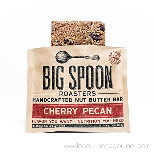 Big Spoon Roasters - Cherry Pecan Nut Butter Bar 70 grams - Cereal Bar - La Courtisane Gourmet Food