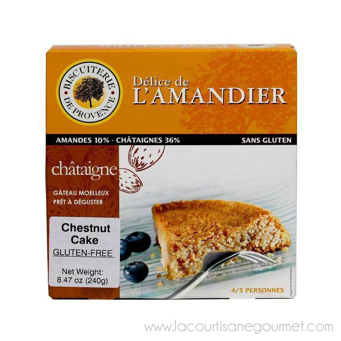 Biscuiterie de Provence - Almond Chestnut Cake, Gluten Free - 8.47 oz - Cake and Biscuits - La Courtisane Gourmet Food