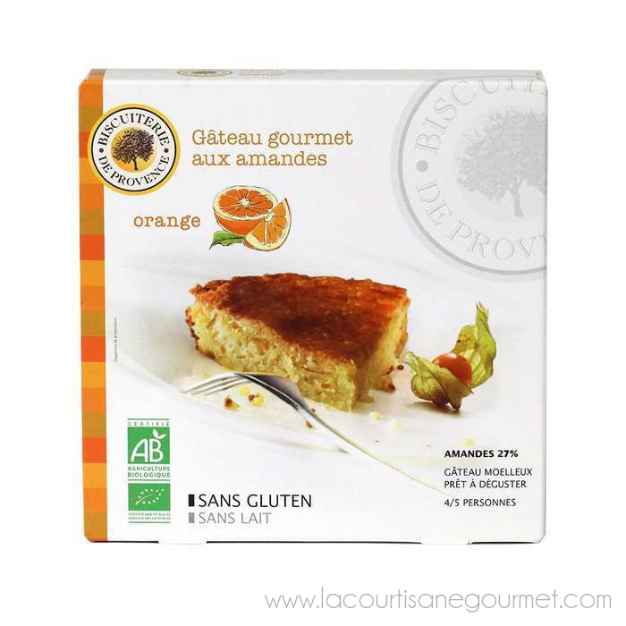 Biscuiterie de Provence - Organic Almond Cake with Orange, 230g (8.5oz) - Cake and Biscuits - La Courtisane Gourmet Food
