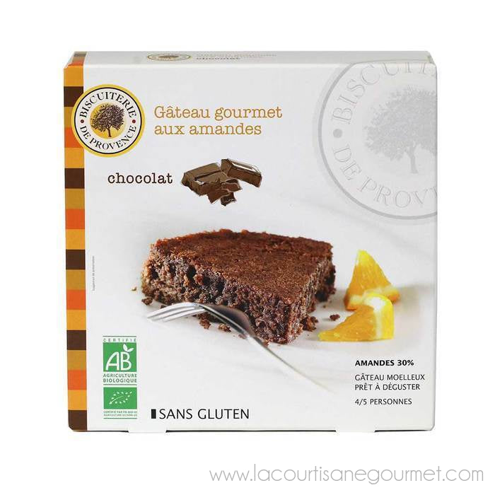 Biscuiterie de Provence - Organic Chocolate Almond Cake, 230g (8.5oz) - Cake and Biscuits - La Courtisane Gourmet Food