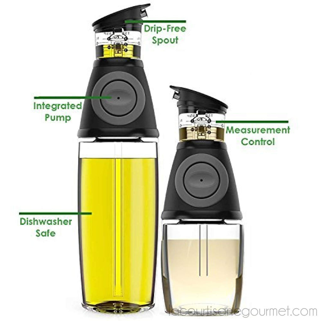Blümwares - Oil And Vinegar Dispenser Set With Drip-Free Spouts - Dispenser - La Courtisane Gourmet Food