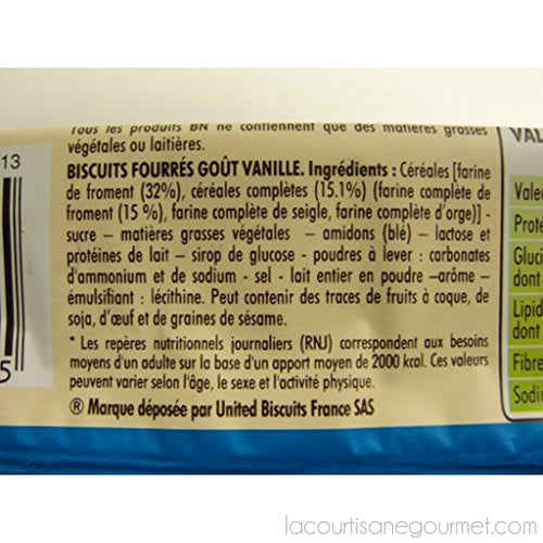 Bn - French Vanilla Sandwich Cookies 10.5 Oz - cookies - La Courtisane Gourmet Food