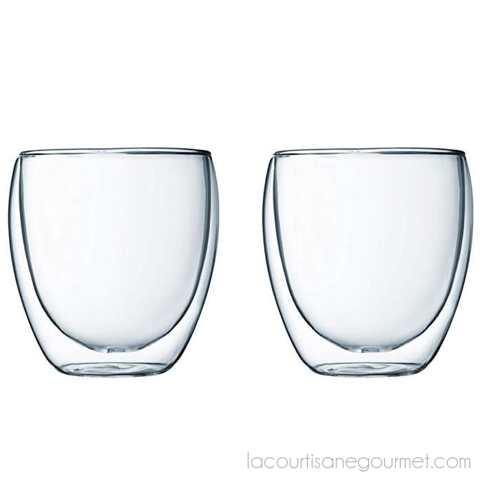 Bodum - Pavina Double Wall Glass - Small, Set Of 2 - - La Courtisane Gourmet Food