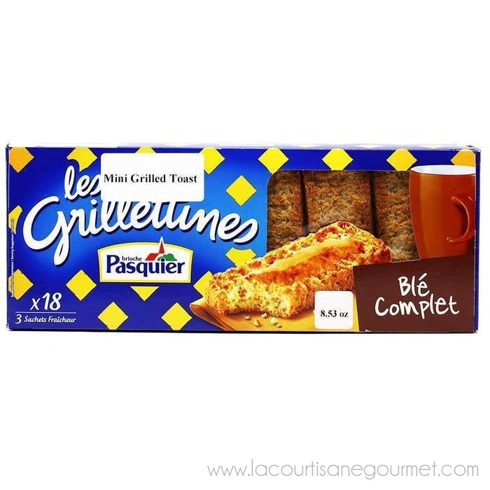 Brioche Pasquier - Grilletines Thick Toasted Bread, 8.1oz (230g) - Bread - La Courtisane Gourmet Food