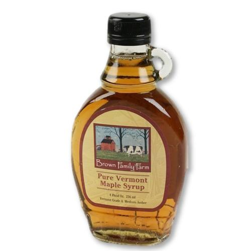 Brown Family Farm - Vermont Pure Grade A Medium Amber Maple Syrup 8 Oz - Maple Syrup - La Courtisane Gourmet Food