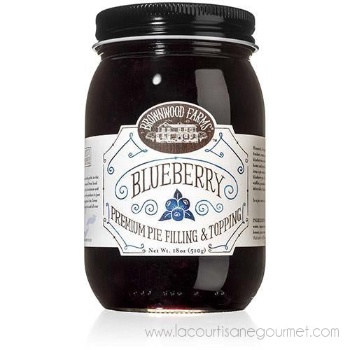 Brownwood Farms - Blueberry Premium Pie Filling & Topping 18 Oz - Topping - La Courtisane Gourmet Food