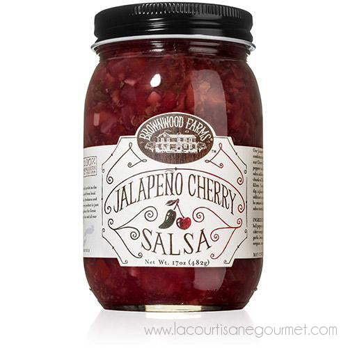 Brownwood Farms - Jalapeno Cherry Salsa 17 Oz - Salsa Sauce - La Courtisane Gourmet Food