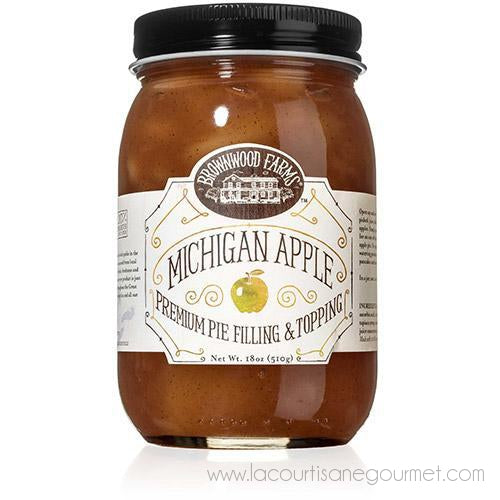 Brownwood Farms - Michigan Apple Premium Pie Filling & Topping 18 Oz - Topping - La Courtisane Gourmet Food