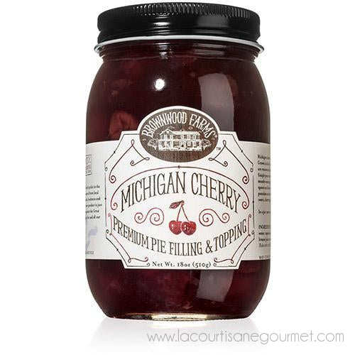 Brownwood Farms - Michigan Cherry Premium Pie Filling & Topping 18 Oz - Topping - La Courtisane Gourmet Food