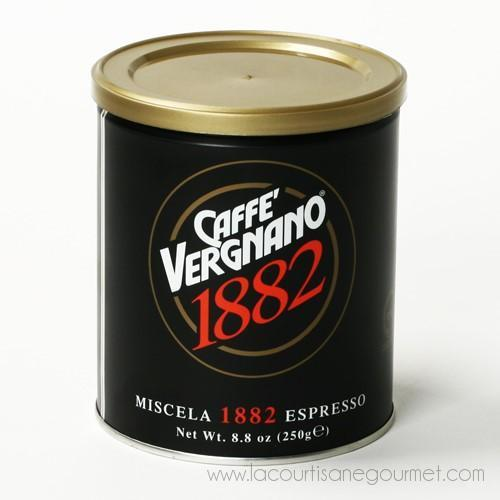 Caffe Vergnano 1882 - Premium Blend Ground Espresso 8.8 Ounces - Coffee - La Courtisane Gourmet Food