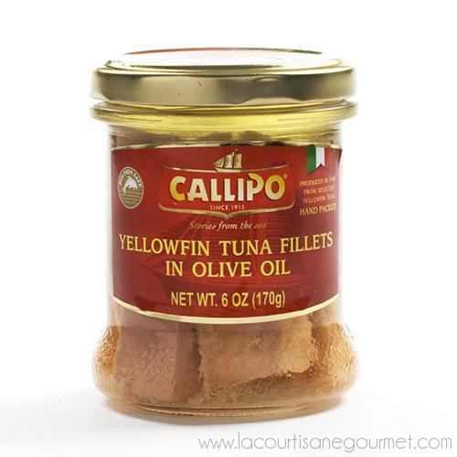 Callipo - Italian Yellowfin Tuna Fillets in Olive Oil 6 oz - Mackerel Fillets - La Courtisane Gourmet Food