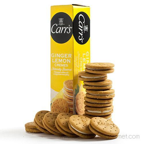 Carr's - Ginger Lemon Creme English Tea Cookies 7.05 oz - Crackers - La Courtisane Gourmet Food