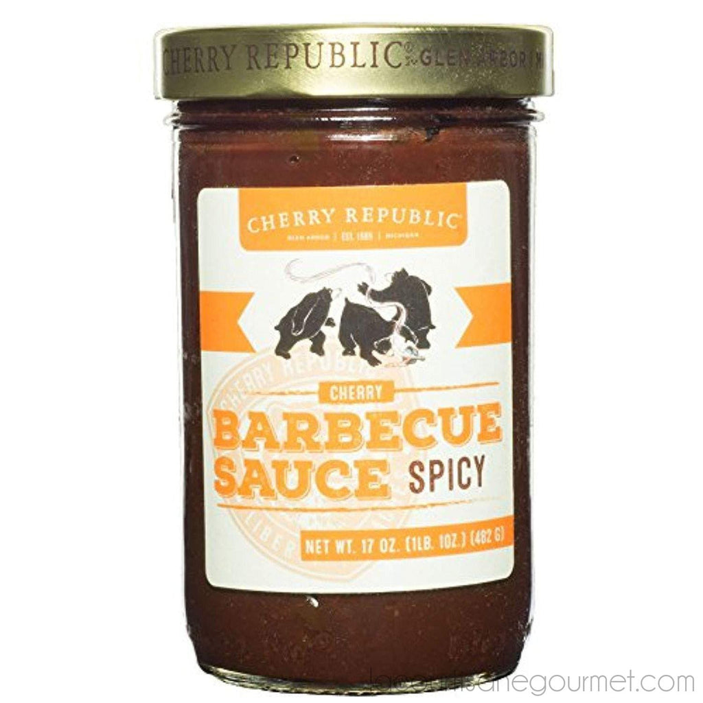 Cherry Republic Spicy Cherry Bbq Sauce - Spicy & Tangy Barbecue Sauce - Authentic Cherry Flavored Bbq Sauce - Barbecue Spread For Chicken, Ribs, Smoked Meats, Burgers,... - BBQ Sauce - La Courtisane Gourmet Food