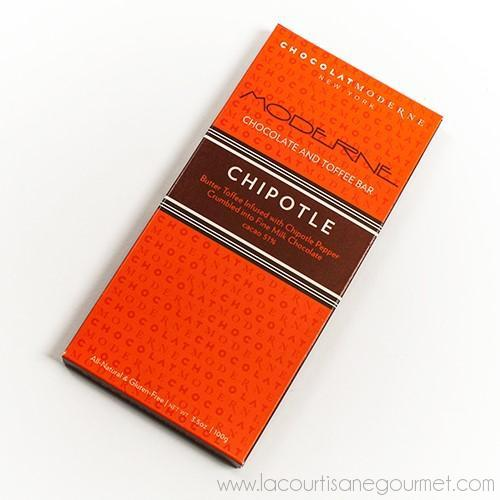 Chocolat Moderne - Moderne Chipotle Chocolate and Toffee Bar 3.5 oz - Chocolate - La Courtisane Gourmet Food
