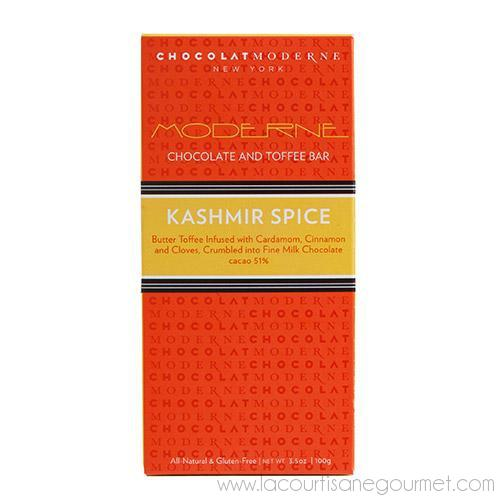 Chocolat Moderne - Moderne Kashmir Spice Chocolate & Toffee Bar 3.5 oz - Chocolate - La Courtisane Gourmet Food