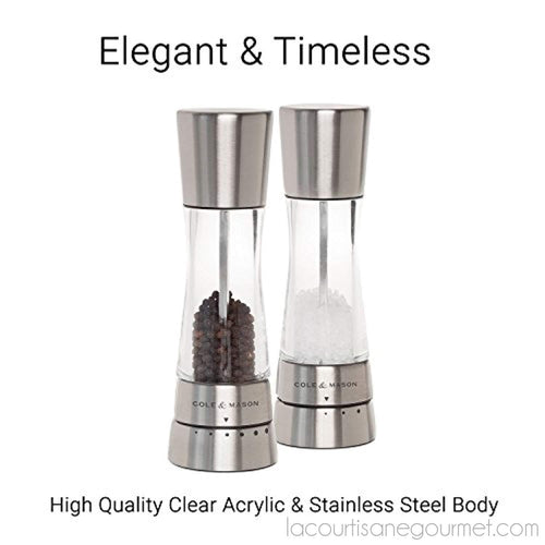 Cole & Mason Derwent Salt Grinder - Stainless Steel Mill Includes Gourmet Precision Mechanism And Premium Sea Salt - grinder - La Courtisane Gourmet Food