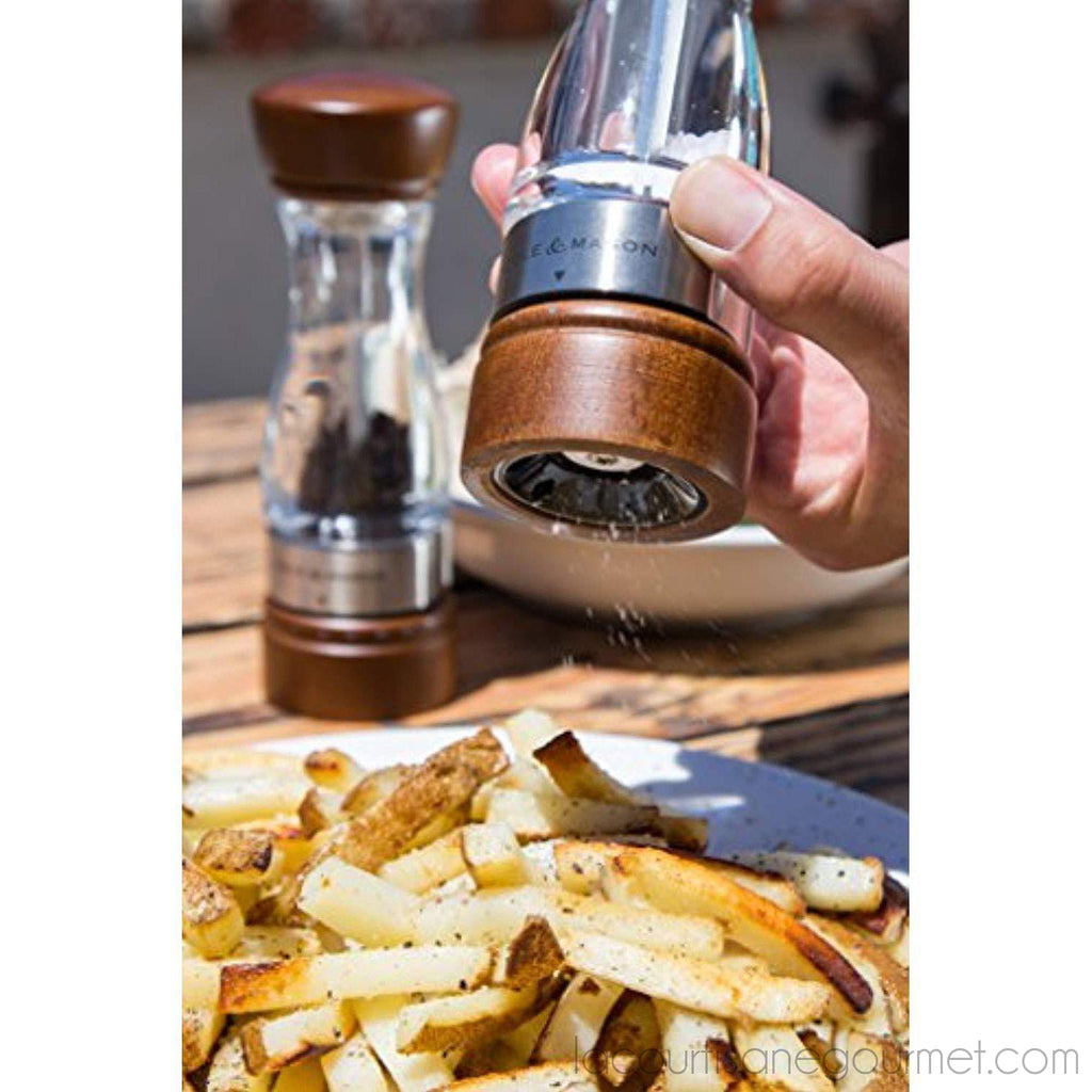 Cole & Mason Keswick Wood Salt Grinder - Wooden Mill Includes Gourmet Precision Mechanism And Premium Sea Salt - - La Courtisane Gourmet Food
