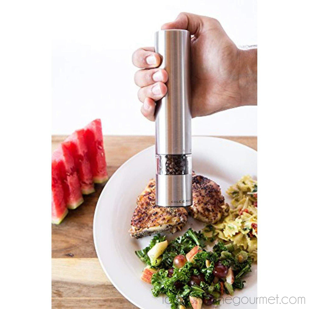 Cole & Mason Rechargeable Electric Salt And Pepper Grinder - Electronic, Battery Operated Mill, Stainless Steel - grinder - La Courtisane Gourmet Food