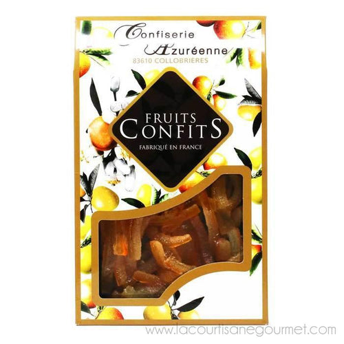 Corsiglia - Candied and Drained Orange Slivers, 200g - Candies - La Courtisane Gourmet Food