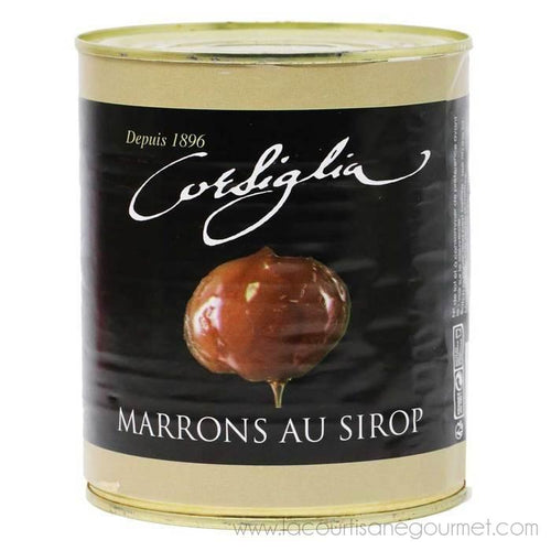 Corsiglia - Candied Chestnuts in Syrup, 650g (1.4lb) Can - Candied Chestnuts - La Courtisane Gourmet Food