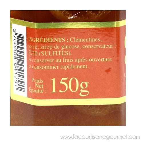 Corsiglia - Candied Clementines in Syrup, Jar 150g - Candies - La Courtisane Gourmet Food