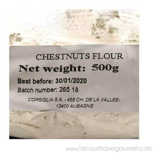 Corsiglia - Chestnut Flour, 500g (17.6oz) Bag - Chestnut Flour - La Courtisane Gourmet Food