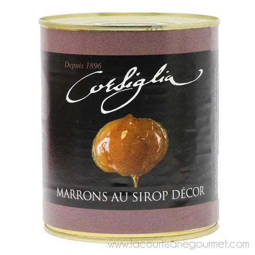Corsiglia - Small Candied Chestnuts in Syrup, 650g (1.4lb) Can - Candied Chestnuts - La Courtisane Gourmet Food