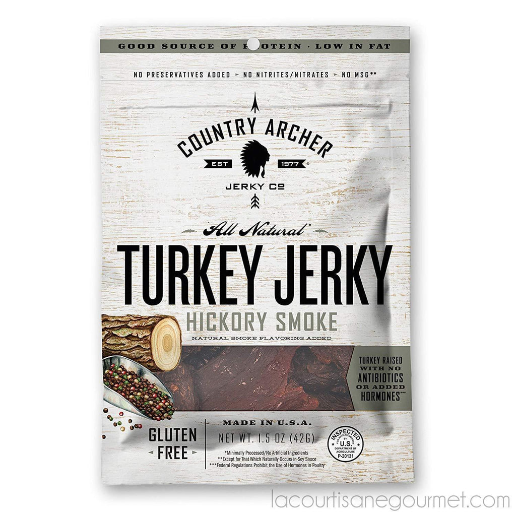 Country Archer 100% Grass-Fed Gluten Free Beef Jerky, Mango Habanero, 3 Ounce (3 Count) - Jerky - La Courtisane Gourmet Food